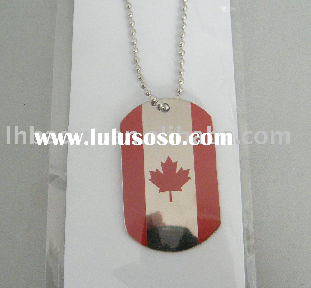Dog tag with Canada flag logo