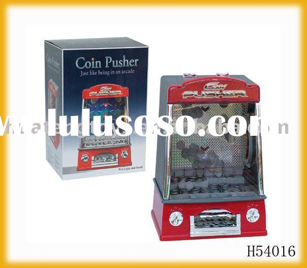 ELECTRICAL TOY PUSH COIN MACHINES