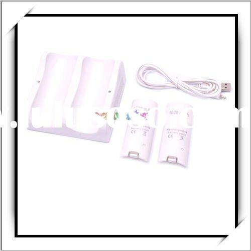 Electroflow LED Dual Inductive Controller Charger with 2 Battery Packs For Wii