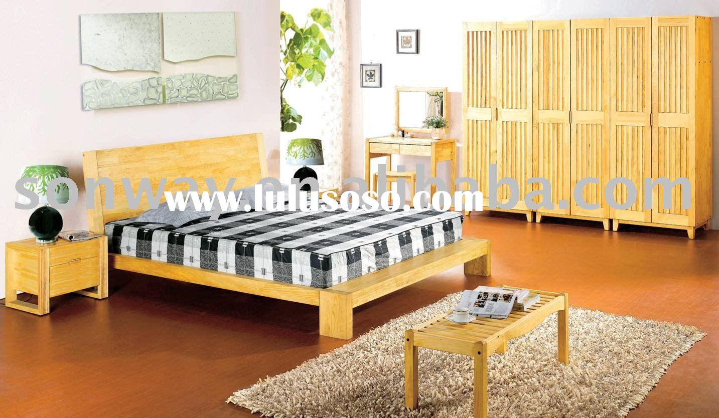 Environmental Design Natural Pine Wood Bedroom set