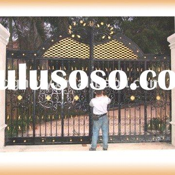 Fabricated Wrought Iron Arch Swing Gate HB-D047}