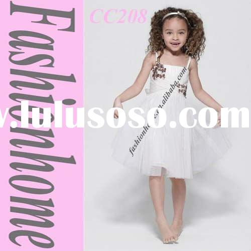 Free shipping White Infant girl party dress CC208