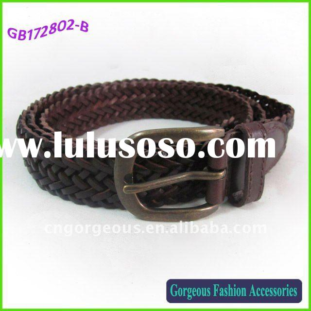 Leather braided belts