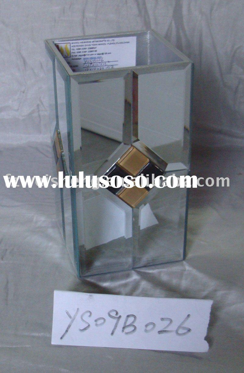 Masic Deocration Glass Waste Bin