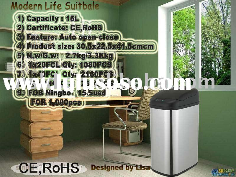 Metal Trash Can Container Waste Paper Bin