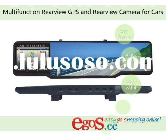 Multifunction Rearview GPS and Rearview Camera for Cars