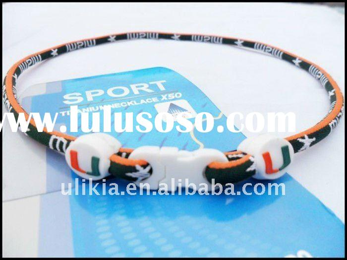 New arrival NCAA Miami Hurricanes basketball sports titanium necklace