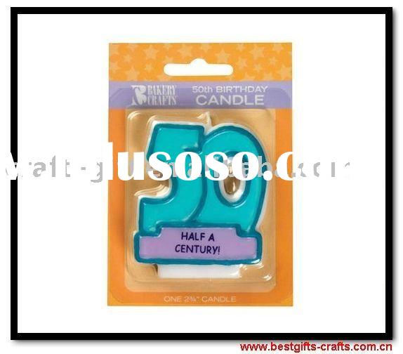 Novelty 50th Happy Birthday Party Wax Candles
