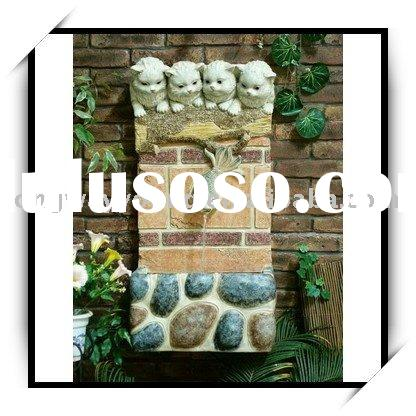 Outdoor Wall Fountain - Cats & fish