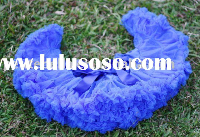 Royal Blue Pettiskirt Pageant Party Dance Tutu 1-10 years Pettiskirt