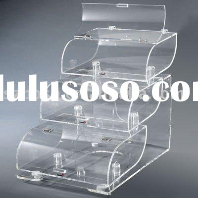 Stackable Acrylic Cereal Bin,Plexiglass Candy Box,Perspex Bread Display