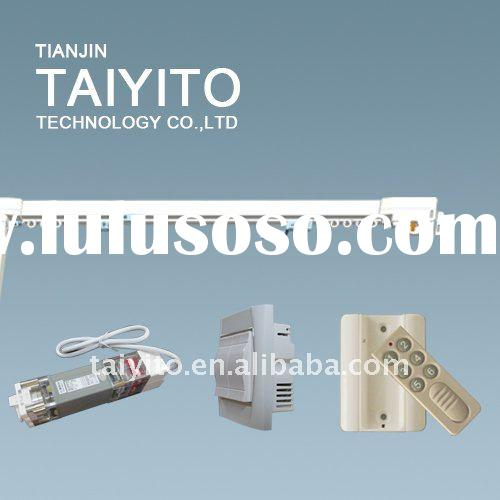 TAIYITO TDXE4466 home automation electric curtain system flat-open electric & manual curtain sys
