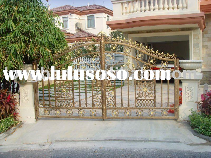 Top-selling newest modern wrought iron main gate designs for home,park,garden