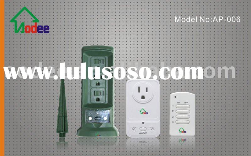 UL Outdoor Power Stake and Wall Outlet with WIRELESS remote control, RF,