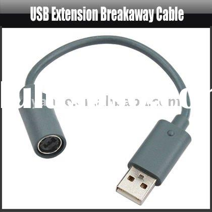 USB Extension Breakaway Cable For Xbox 360 Controller,YAG203A