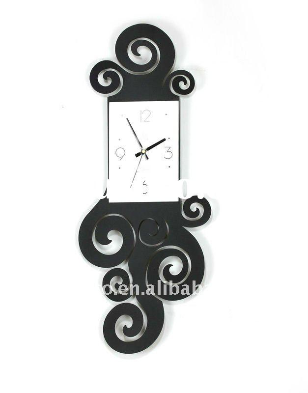 (CK001) home decor projection metal wall clock