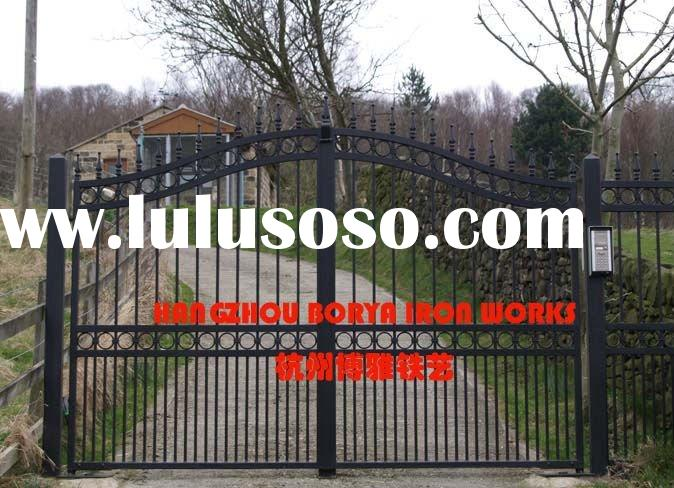 home artistic wrought iron steel security front entrance gate