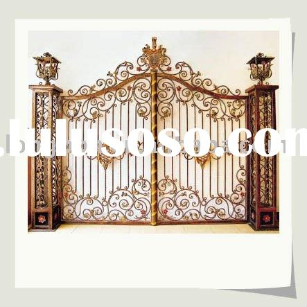 newest modern wrought iron gate grill design(I-G-0040)