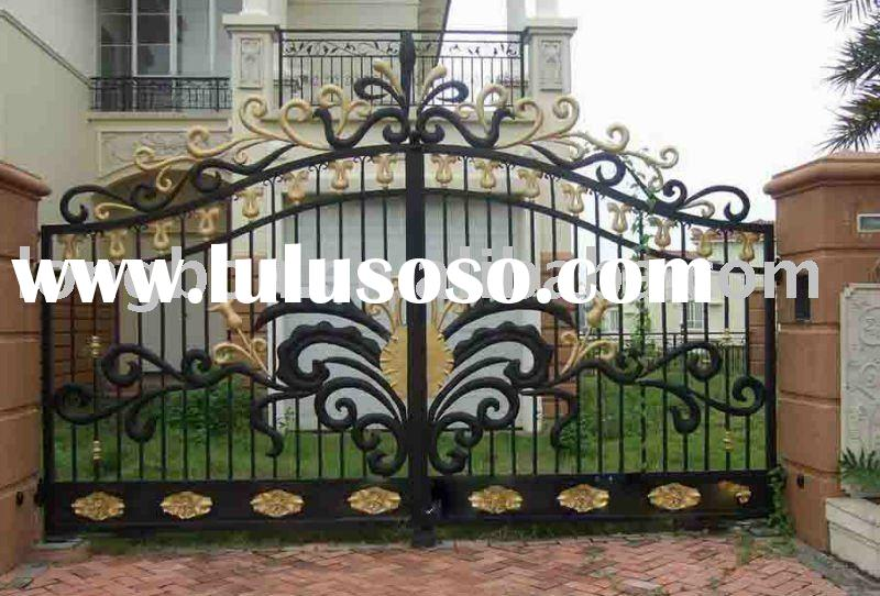 newest wrought iron main gate designs for home,park,garden
