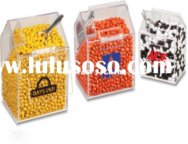 perspex candy bin / acrylic food storage box / pmma packaging box