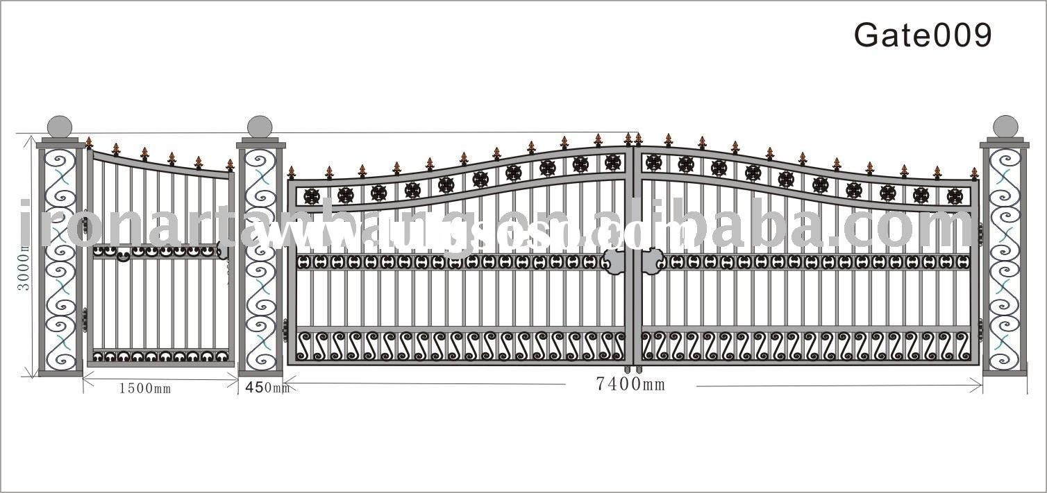 steel craft gate,wrought iron door,iron gates