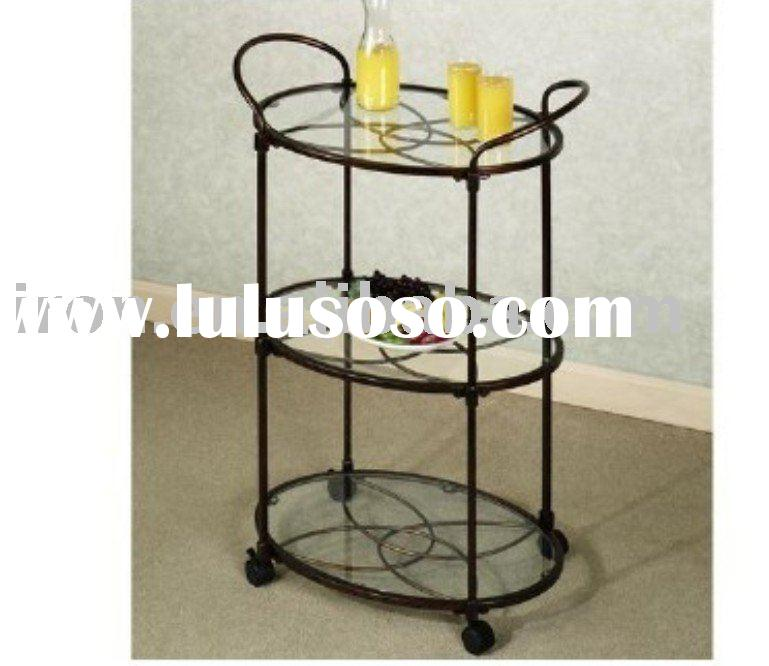 wrought iron serving cart