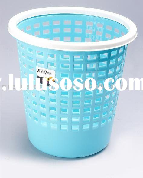 plastic waste bin with a top ring