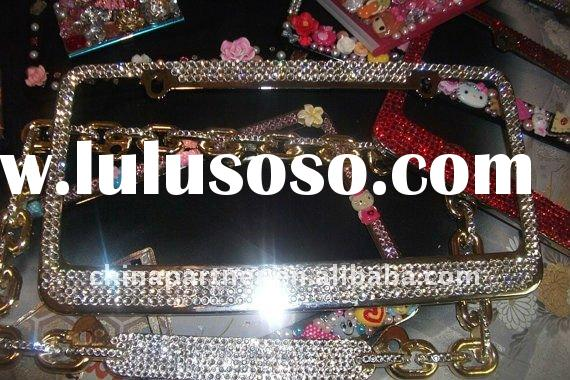 Crystals License Plate Frame Bling Bling Luxury Beautiful