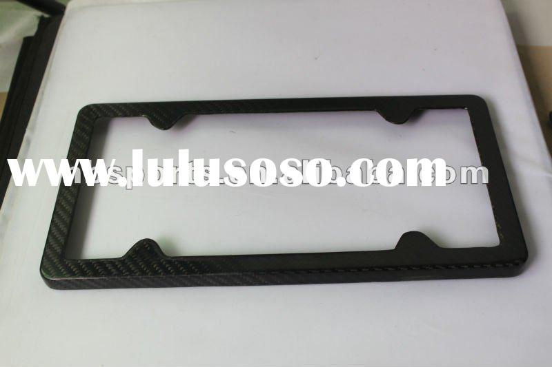 High quality carbon fiber car license plate frame carbon fiber license plate