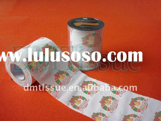 Merry Christmas toilet tissue roll with printed