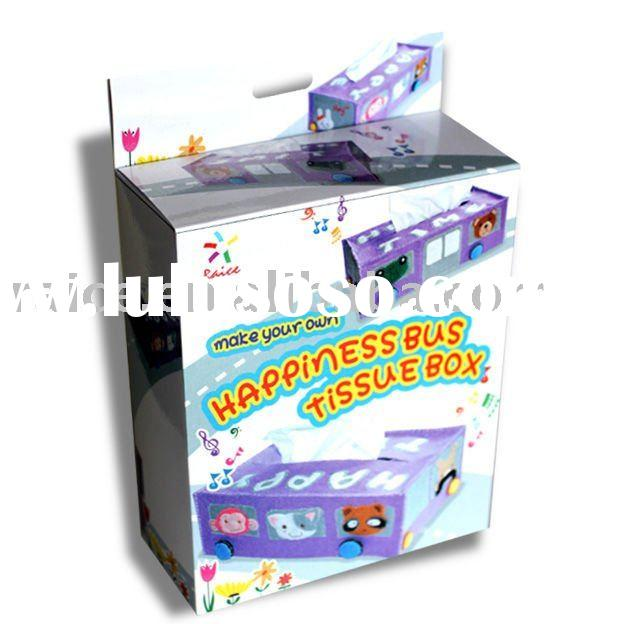 Sewing your own tissue box - Happy Bus/sew craft kit/tissue box cover/felt crafts