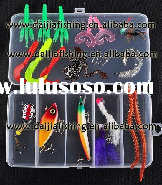 Wholesale and retail fishing tackle lures set soft+hard fishing lures Spoon Bait lure bait high qual