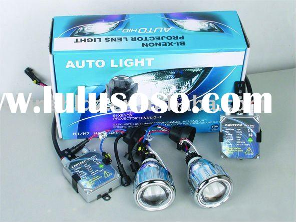 Work with the original auto headlight; add seven color LED angel eyes ,light brightness double and f