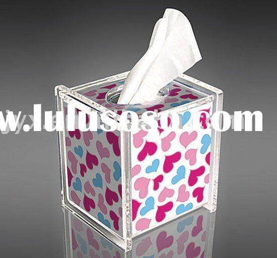 acrylic tissue case with excellent price