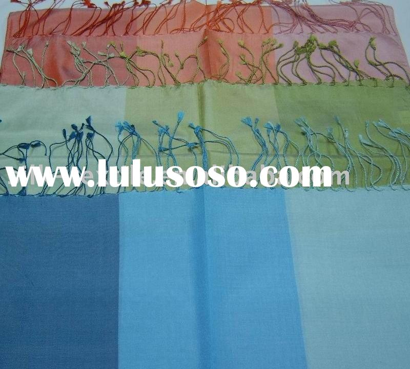 100% Silk Yarn Dyed taffeta Shawl