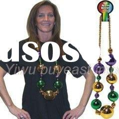 10mm VINTAGE PLASTIC CHRISTMAS ORNAMENT GLASS DISCO BALL NECKLACE