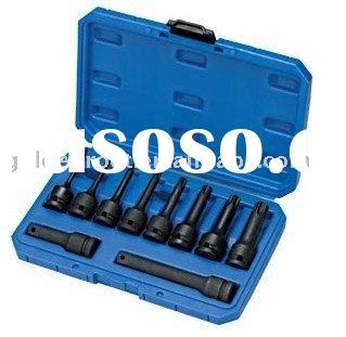 "10pcs 1/2"" Dr. Hex Impact Socket Bit Set, Impact Socket Bit Set, Pneumatic Tool Accessories"