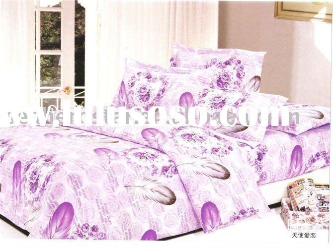 128x68 thread count 100%cotton printed bedding set / fabric for home textile
