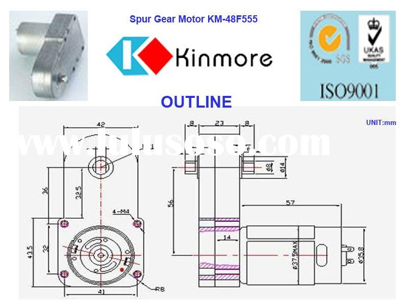 12V dc reduction motor,gear motor,dc motor(KM-48F555)