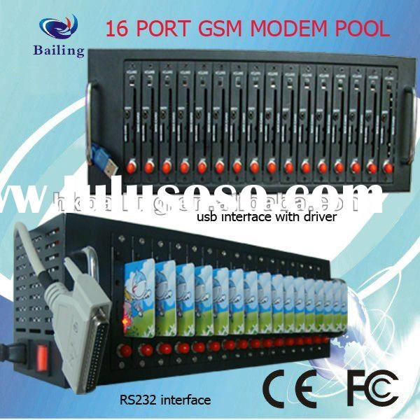 16 port RS232 Modem Pool Siemens (MC55I) GSM/GPRS