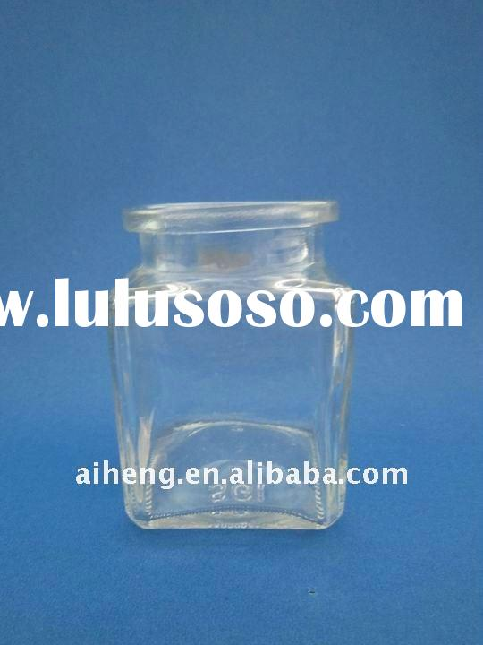 180ml kitchen storage square clip lid airtight wholesale glass jars