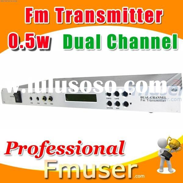 18FSN Dual Channel fm transmitter 0.5w radio station equipment for sale