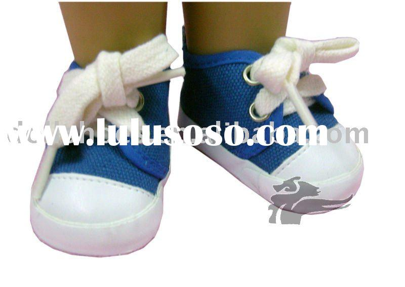 18 inch blue dolls Sneakers china Doll shoes Toy Accessories