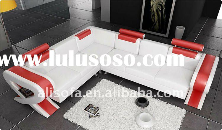 2011 Best sale Modern leather sofa white and red