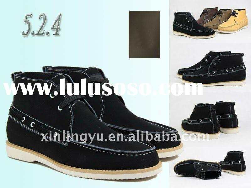 2011 New Mens Leather Dress Boots Stretch Fit Shoes ALL SIZE men shoesmen wedding shoes man business