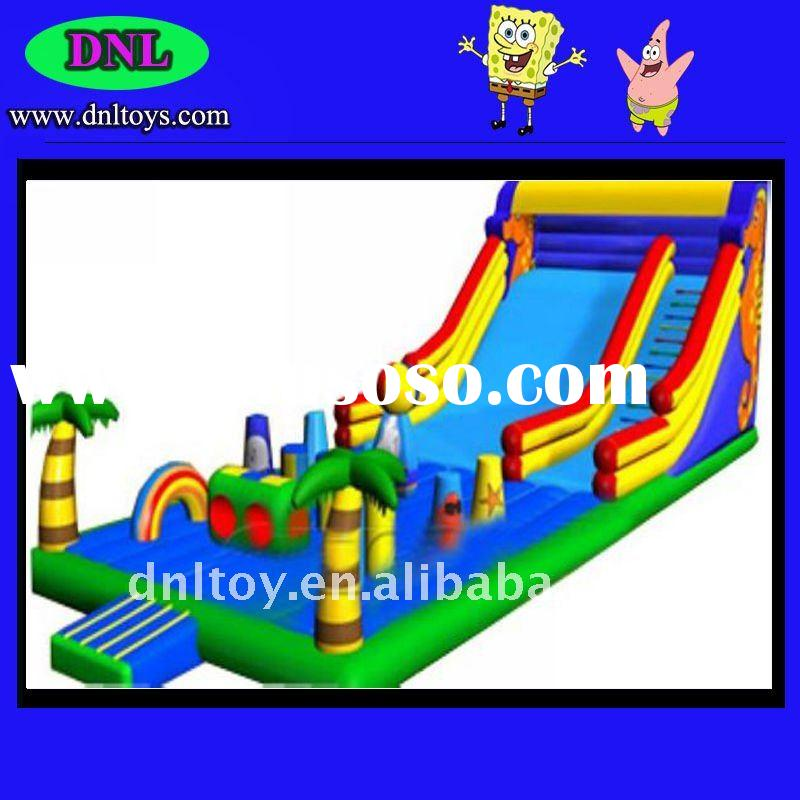 2011 Safe and cheap long playground slide for amusement