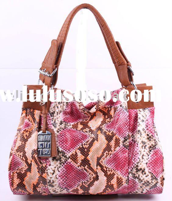 2011 The Popular Lady Tote Handbag With Python Skins