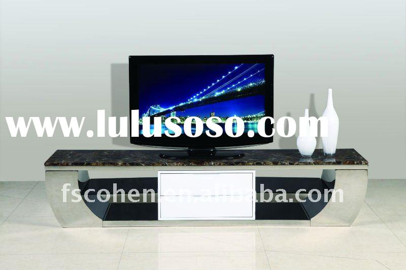 2011 hot sell antique marble stainless designs tv cabinets E2088