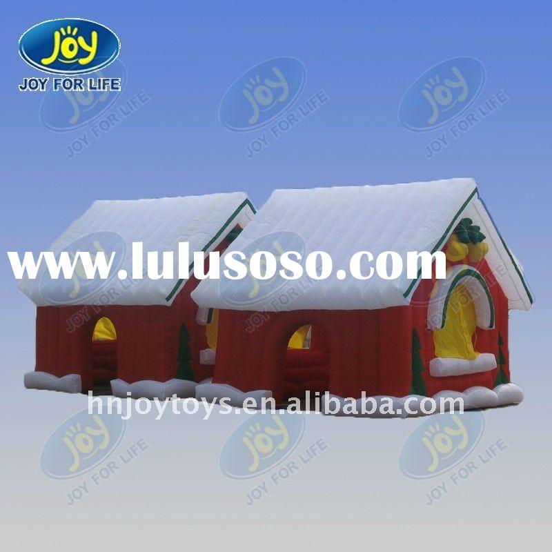 2011 kids playing outdoor inflatable christmas house