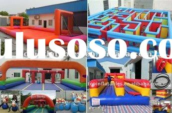 2012 HOT kids inflatable sports game toy,Derby horse, inflatable maze,inflatable bungee run,inflatab